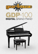 GDP-100 Digital Grand Piano with Stool by Gear4musi
