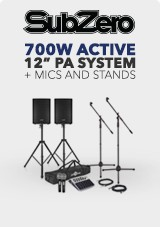 700 W 12' PA System with Mics and Stands