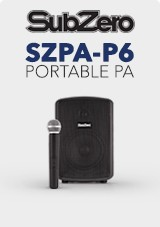 SubZero SZPA-P6 Portable PA z Digital Media Player + Wireless Mic